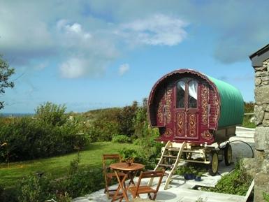 Glamping Cornwall in a Gypsy Caravan  B and B
