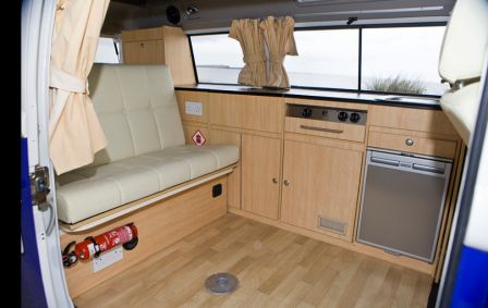 Camper Van Hire Northern Ireland VW T2 Interiors