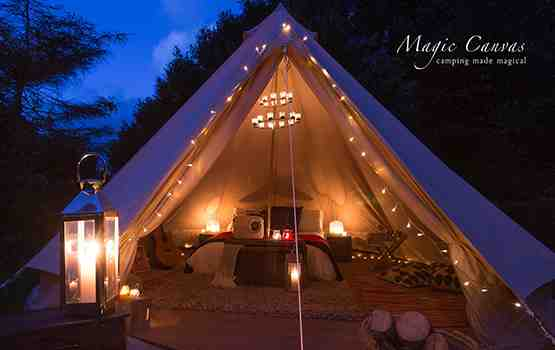 Glamping Cornwall Bell Tent Hire Magic Canvas Love Glamping