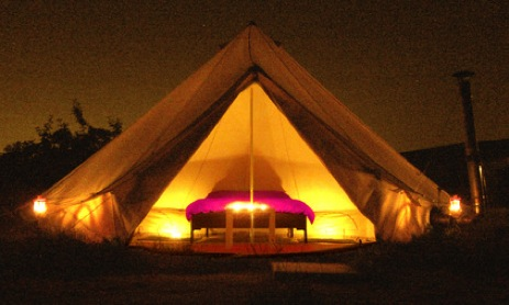glamping-worcestershire-purple-plum-glamping-bell-tent