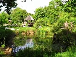 glamping-somerset-yurt-garden-pond