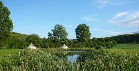 glamping-wiltshire-dorset-border-chalke-valley-bell-tents