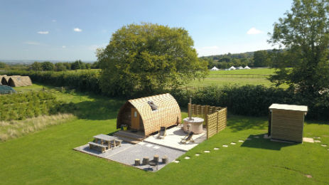 SECRET VALLEY NEWS Glamping in Somerset with Hot Tub