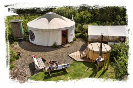 FLORENCE SPRINGS Glamping Wales with Hot Tub