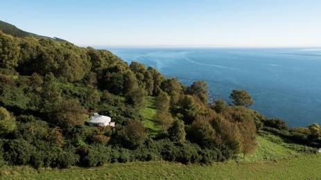 glamping-scotland-black-isle-yurts-holly-ariel-view