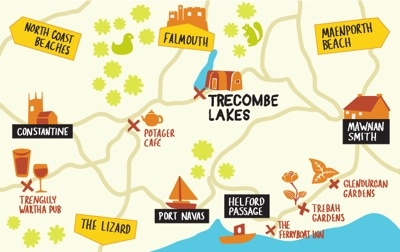 glamping-cornwall-trecombe-lakes-map