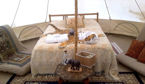 glamping-dorset-country-events-bell-tent-interior