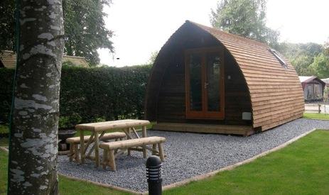 glamping-scotland-braidhaugh-cabin-and-table