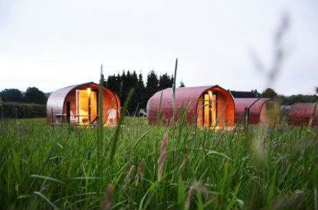 glamping-shropshire-bleathwood-pods-in-field