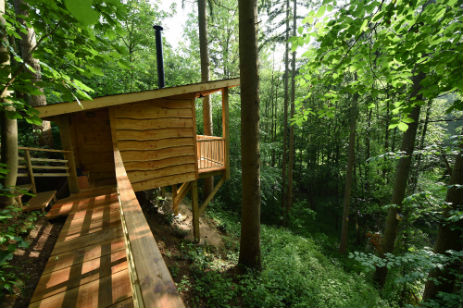 REDWOOD VALLEY TREEHOUSE AND YURT CAMPING Glamping Herefordshire Powys Border