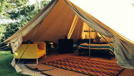 Glamping-Sussex-Bluecap-Farm-Bell-tent-Interiors
