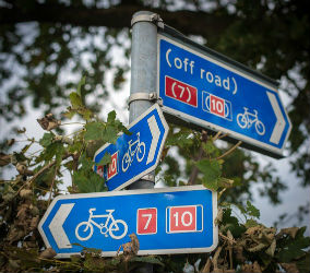 glamping-cumbria-and-the-edge-of-the-lake-district-the-cyle-route-signs