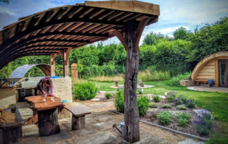 THE SECRET GARDEN AT GUILDEN GATE Glamping Hertfordshire and Cambridgeshire with Hot Tub