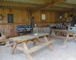 glamping-devon-woodland-fun-benches