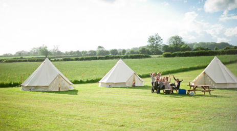 glamping-dorset-home-farm-camping-bell-tents-in-sunshine