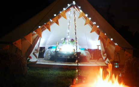 BELLOWS GLAMPING Bell Tent Hire Derbyshire and The Peak District