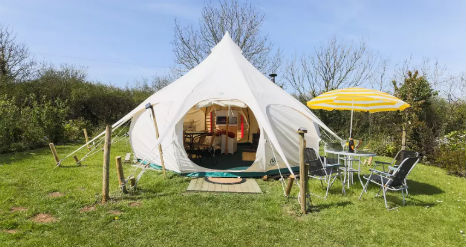 SUMMER BELL TENT Glamping near Padstow Cornwall