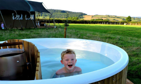 MIDDLE STONE FARM Glamping Somerset with Hot Tub