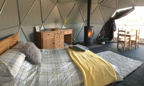 BEAVERS RETREAT Glamping Wales Bell Tents and Geodome with Hot Tub