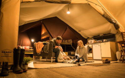 Glamping with ready camp