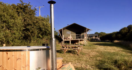SLOEBERRY FARM Glamping Cardigan Bay Wales with Hot Tub