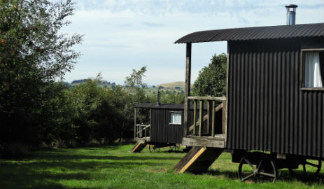 SHEPHERDS HUTS AT NEW HANSON GRANGE Glamping Derbyshire and The Peak District