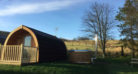 STONEYMOLLAN LUXURY PODS LOCH LOMOND Glamping Scotland with Hot Tub