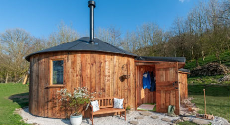 KELKERWELL ROUNDHOUSE Glamping Cumbria with Hot Tub