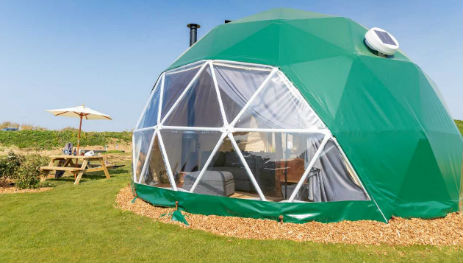 TOMS ECO LODGE DOMES Glamping on The Isle of Wight