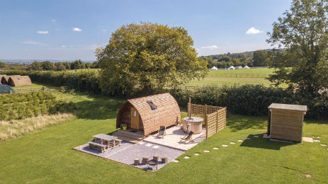 SECRET VALLEY Glamping Somerset with Hot Tub
