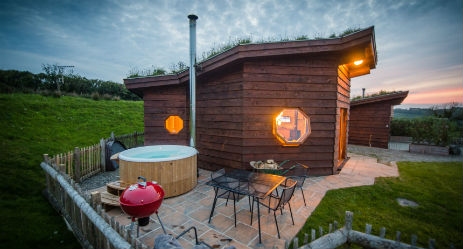 TREBERFEDD LUXURY ECO CABIN – AERONA Glamping Wales with Hot Tub