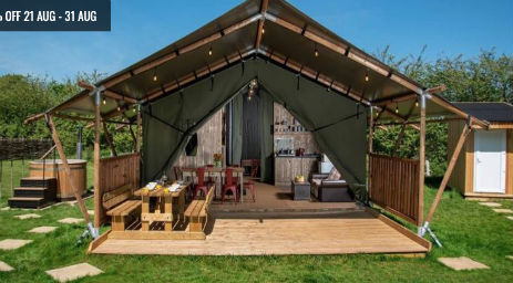 DOVE LODGE Glamping Wales with Hot Tub