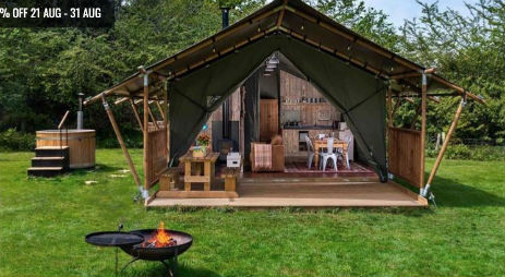 GOSHAWK LODGE Glamping Wales with Hot Tub