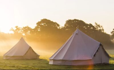 Glamping in Somerset with Breakfast at Dreamfields